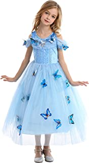 TEIART Luxury Princess Dress Costume for Girls Snow Queen Party Birthday Dress up Halloween Cosplay Party
