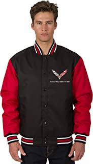 JH DESIGN GROUP Men's Chevy Corvette Poly-Twill Jacket Embroidered Logos in 3 Great Colors