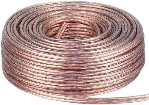 DCSk 50m - 2 x 1.5mm² - Câble Audio pour Enceintes - Câble HP Haut-Parleur en Cuivre pour HiFi et Hi-FI Embarquée - F...