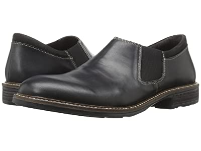 Naot Director (Black Raven Leather/Black Velvet Nubuck) Men