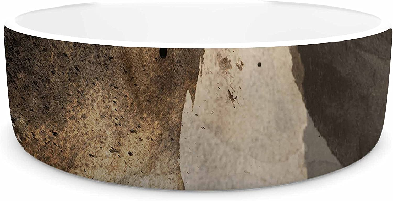 KESS InHouse Li Zamperini Today  Beige Brown Pet Bowl, 4.75