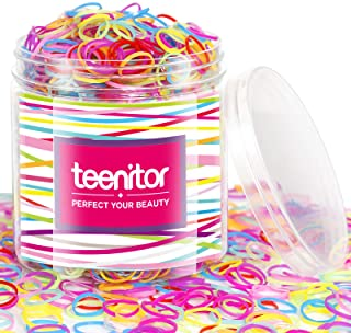 Best Color Elastic Hair Bands, Teenitor 2000pcs Multi Color Hair Holder Hair Tie Elastic Rubber Bands for Baby Girls Review