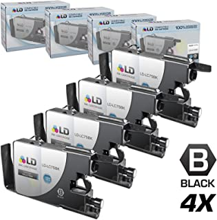 LD © Compatible with Brother LC75 Pack of 4 High Yield Ink Cartridges: 4 LC75BK Black for use in the Brother MFC-J280W, MFC-J425W, MFC-J430W, MFC-J435W, MFC-J5910DW, MFC-J625DW, MFC-J6510DW, MFC-J6710DW, MFC-J6910DW, MFC-J825DW and MFC-J835DW Printers