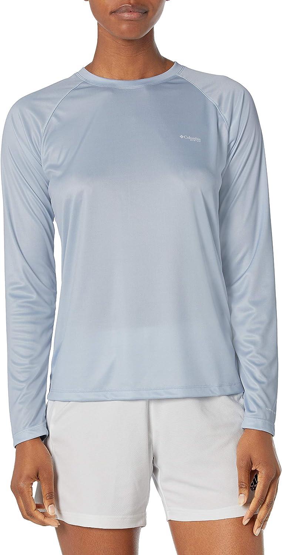 Super sale Columbia Max 88% OFF Women's Tidal PFG Printed Long Triangle Shirt Sleeve