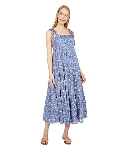 Madewell Tie-Strap Tiered Midi Dress in Summer Vines Women