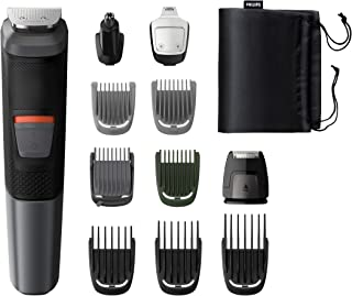 Philips MG5730 Multigroom 11-in-1, Face, Hair and Body 11 tools, DualCut technology, Up to 80 min runtime, Waterproof