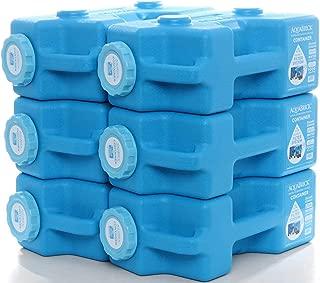 AquaBrick Emergency Water & Food Storage Container, Portable Stackable Storage Containers, Water Storage, BPA Free by SaganLife (6-Pack)
