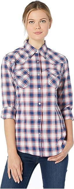 Long Sleeve Snap Plaid Shirt