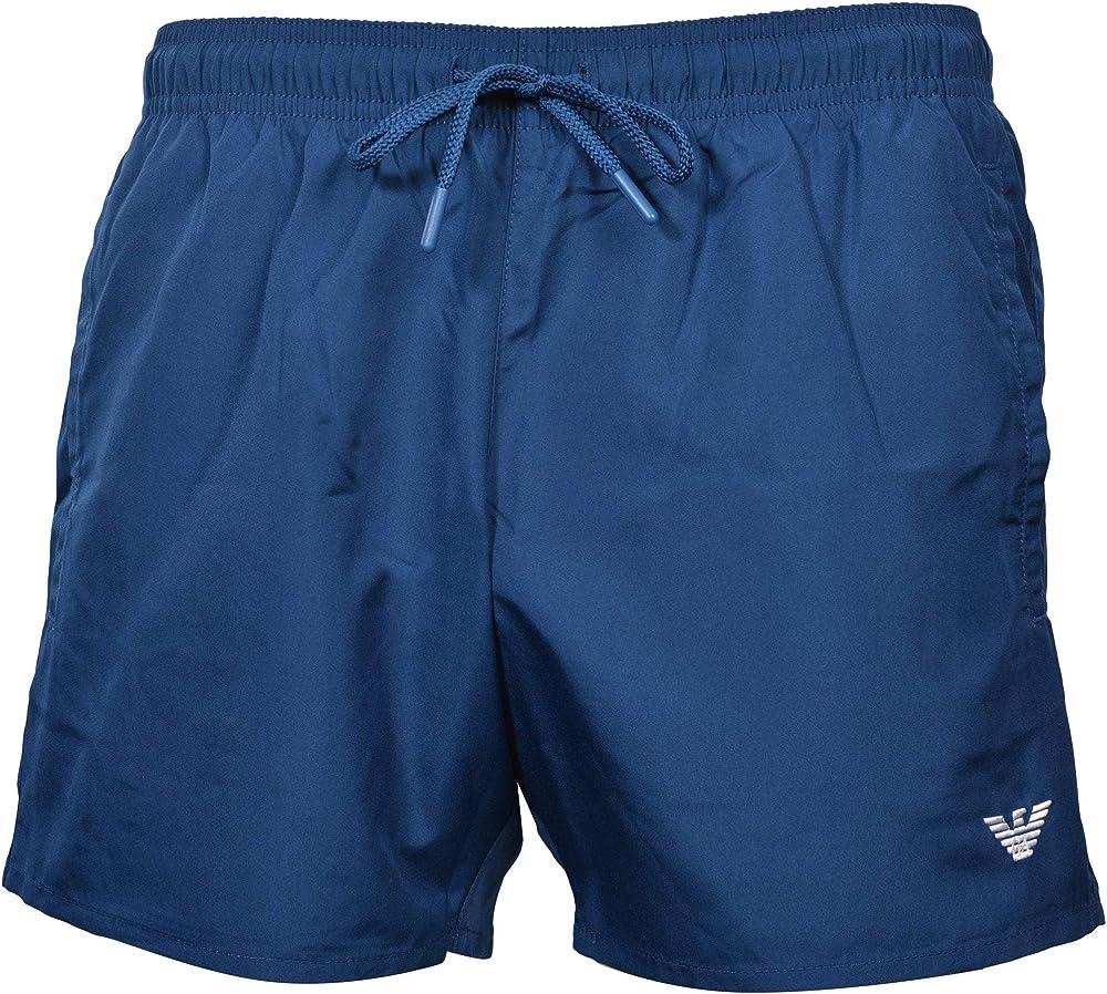 Emporio armani swimwear, boxer essential, costume da bagno per uomo,100% poliestere 211752 1P438 03083