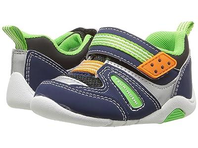 Tsukihoshi Kids Neko (Toddler) (Navy/Green) Boys Shoes