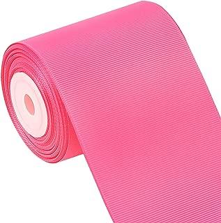 Laribbons 3 Inch Wide Solid Color Grosgrain Ribbon - 10 Yard/Spool (156 Hot Pink)