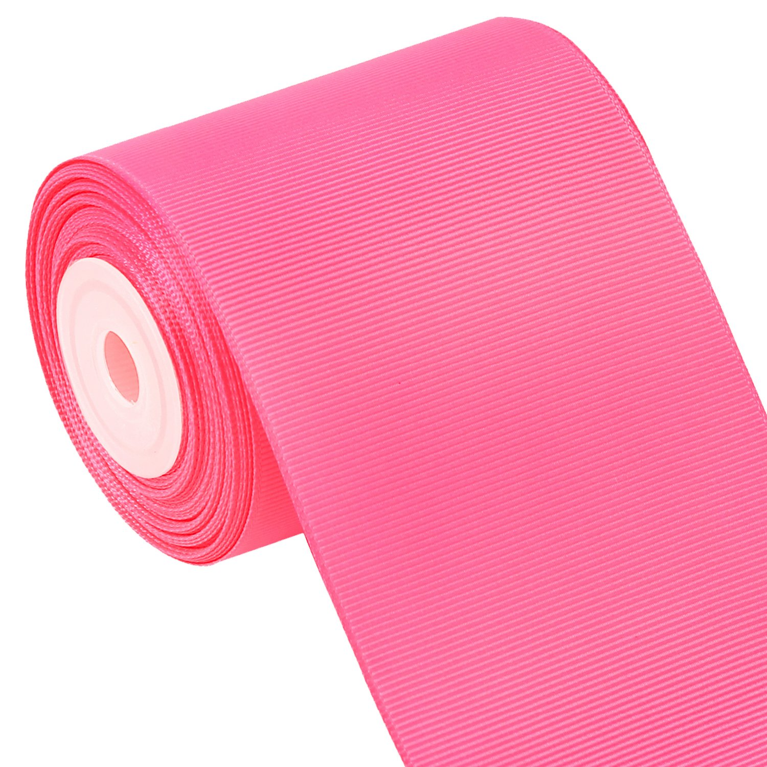 Wide Pink Ribbon Offray Pink Grosgrain Ribbon 3 inches wide x 10 yards