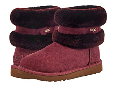 UGG Fluff Mini Belted (Wild Grape/Sauce Red) Women