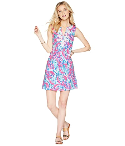 Lilly Pulitzer Harper Shift Dress (Cosmic Coral Cracked Up) Women