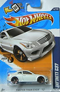 Hot Wheels 2012-094 Faster Than Ever 12 Infiniti G37 WHITE 1:64 Scale on Regular Card