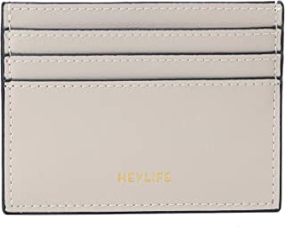RFID Credit Card Holder for Women Men Slim Leather Card Case Wallet Minimalist Money Clip