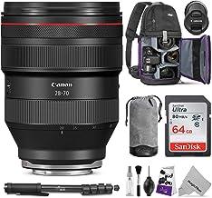 Canon RF 28-70mm f/2L USM Lens w/Advanced Photo and Travel Bundle