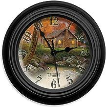 Reflective Art Weekend Retreat Wall Clock, 10-Inch
