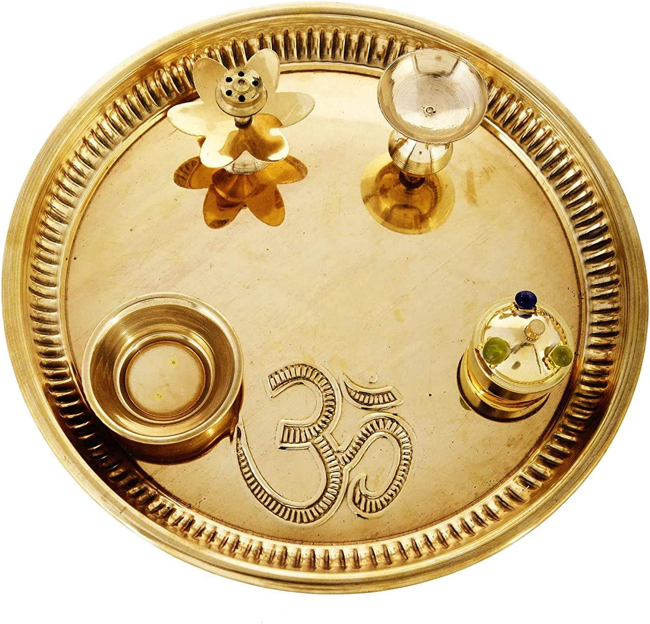Spiritual World Pooja thali Ranking TOP20 Set for Tampa Mall puja with Home Brass -