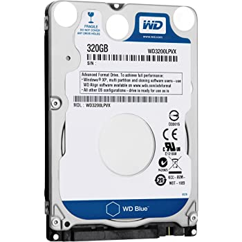 WD Bare Drives 320GB WD Blue SATA III 5400 RPM 8 MB Cache Bulk/OEM Notebook Hard Drive WD3200LPVX