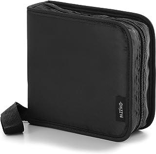 Pazzimo Porta CD para 40 Discos de DVD/CD/BLU-Ray - Estuche Organizador transportable para Guardar CDs con Fundas Protecto...