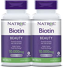 Natrol Biotin Maximum Strength 100 Tab Pack of 2