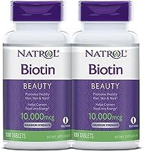Natrol Biotin Maximum Strength 100 Tab Pack of 2
