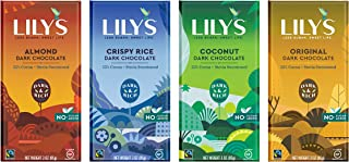 Variety 55% Dark Chocolate Bar Sampler by Lily's | Stevia Sweetened, No Added Sugar, Low-Carb, Keto Friendly | 55% Cocoa |...