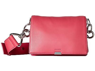 AllSaints Captain Flap Shoulder (Fuschia Pink) Bags