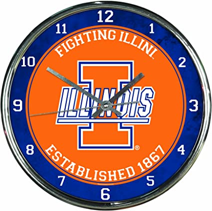WinCraft NCAA Chrome Clock