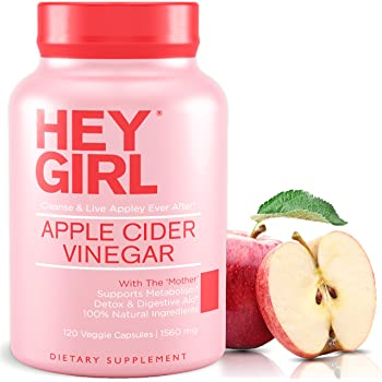 Apple Cider Vinegar Capsules - Great for Detox , Cleanse + Weight Management | Reduces Bloating and Aids Digestion to Keep Your Gut Happy by Hey Girl Nutrition