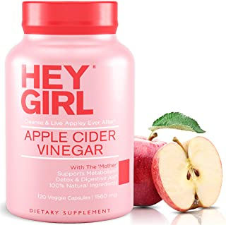 Apple Cider Vinegar Capsules - Great for Detox, Cleanse + Natural Weight Loss   Reduces Bloating and Aids Digestion to Kee...