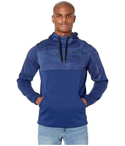 Nike Therma Fleece Pullover All Over Print 1 (Blue Void/Black) Men