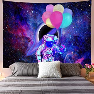 Galoker Space Tapestry, Astronaut Tapestry Galaxy Tapestry Spaceman Astronaut Starry Art Print Wall Hanging Tapestry for Home Decor(H59.1×W78.7 inches)