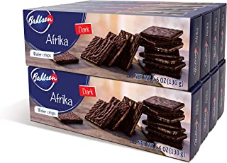 Afrika Dark Chocolate (8 boxes) | Wafers covered with dark European Chocolate (4.6 ounce boxes)