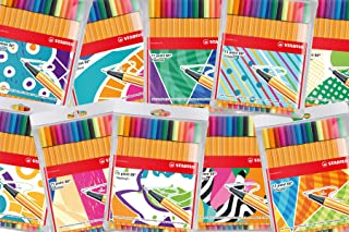 Fineliner - STABILO point 88 Wallet of 15 Assorted Colours incl 5 neon colours