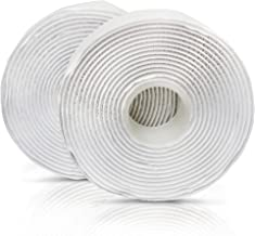XFasten Adhesive Hook and Loop, White, 1-Inch x 10-Foot Industrial Grade and Wear and Tear Resistant