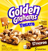 Golden Grahams Chocolate Marshmallow S'mores Cereal Bars, 5ct, 150g, Imported from Canada}