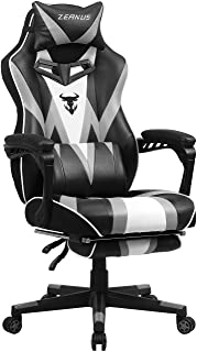 Gaming Chairs for Adults, High Back Computer Chair with Footrest, Ergonomic Gamer Chair with Massage, Recliner PC Gaming C...
