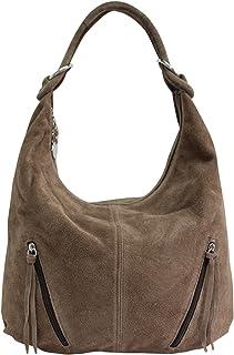 f70f1811 AMBRA Moda bolsa de asas de cuero de las mujeres Bolso de gamuza Bolso de  hombro