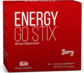 4Life - Energy Go Stix - Heathy Energy Source - Berry - 30 Packets