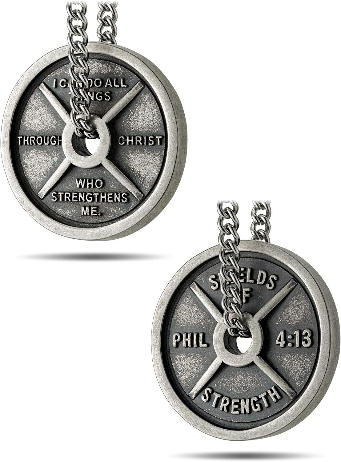 Cheap mail order specialty store Men's Stainless Steel with Antique Finish Plate Directly managed store Weight Necklace-