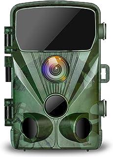 TOGUARD Cámara de Caza 20MP 1080P Impermeable Cámara de vigilància con Vision Nocturna Gran Angular de 130° Detección de Movimiento Cámara Foto Trampa 0.3s Velocidad de disparo 2.4 LCD IR LEDs