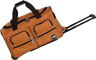 Rockland Luggage 22 Inch Rolling Duffle Bag, Orange, One Size