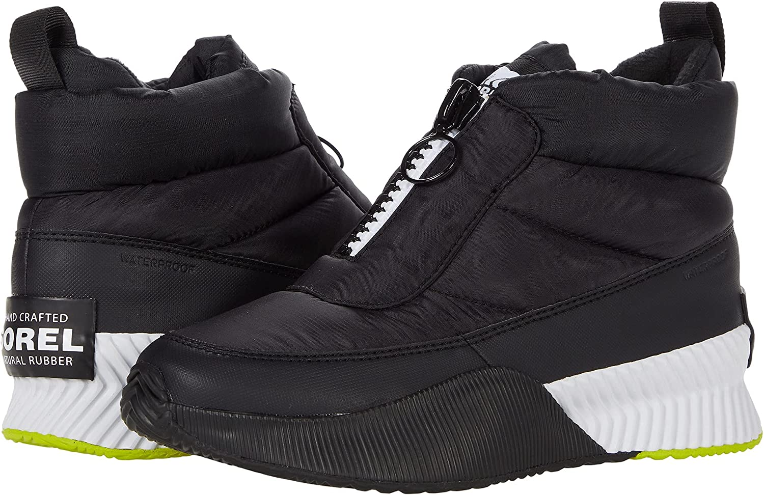Sorel Out N About III Puffy Zip Black/White 6 B (M)