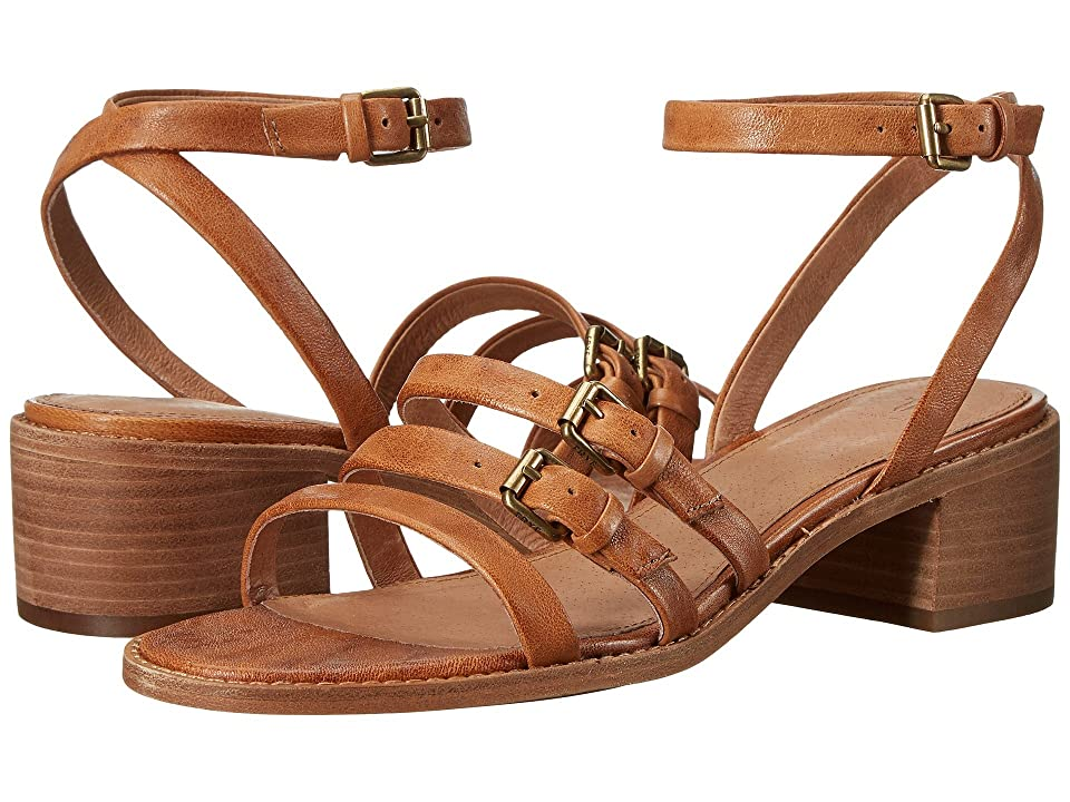 Frye Cindy Buckle Sandal (Camel) Women