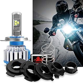 WinPower - H4 / H6 / Ba20D (180 °) / P15d25-3 - Kit universal de conversión de bombillas de faros LED para motocicletas - 40W 6000K 3600Lm Xenon blanco - 2 años de garantía