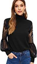 Best high neck lace tops Reviews
