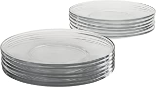 glass lunch plates