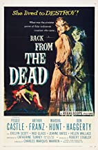 73556 Back from The Dead Movie 1957 Horror Decor Wall 16x12 Poster Print